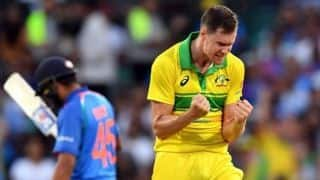Wicket in first over: Behrendorff's joke becomes reality