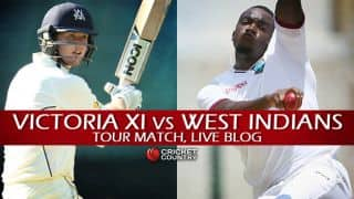 VIC XI 169/3 | Live Cricket Score, Victoria XI vs West Indians 2015-16, 2-Day practice game, Day 2 at Geelong: Match drawn