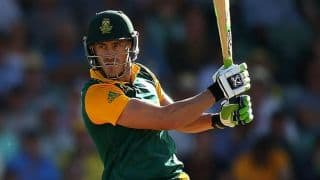 South Africa vs West Indies 2014-15: Faf du Plessis scores 46-ball 100
