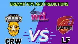 Dream11 Team Chitwan Rhinos Women vs Lalitpur Falcons Women's Champions League T20 2019 – Cricket Prediction Tips For Today's T20 Match 5 CRW vs LF at Kirtipur