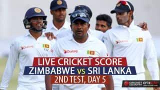 LIVE Cricket Score, Zimbabwe vs Sri Lanka, 2nd Test, Day 5, at Harare: SL win by 257 runs