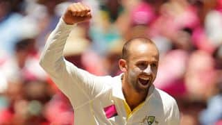 Nathan Lyon helps Australia reduce West Indies to 35/3 at tea on Day 2 of the second Test at Kingston