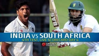 Live Cricket Scorecard: India vs South Africa 2015, 4th Test at Delhi, Day 4