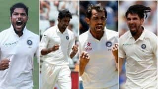 तीसरी बार चार तेज गेंदबाजों के साथ टेस्ट मैच में उतरी भारतीय टीम