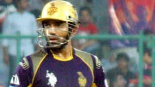 Gautam Gambhir dismissed early for Kolkata Knight Riders against Kings XI Punjab in IPL 2014 Qualifier 1
