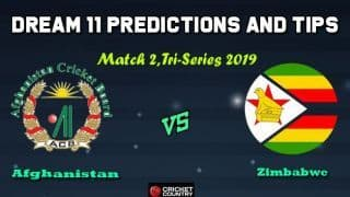 AFGH vs ZIM Dream11 Team Afghanistan vs Zimbabwe, 2nd T20I, T20I Tri-Series 2019 – Cricket Prediction Tips For Today's Match AFGH vs ZIM at Dhaka