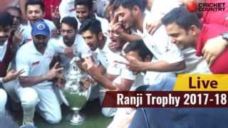 Ranji Trophy 2017-18 LIVE Cricket Score, Day 1: STUMPS
