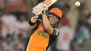 Warner's excellent fifty guides SRH to 158-7 against DD, IPL 2016, Match 52