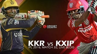 KXIP 157/9 in 20 overs | Live Cricket Score, KKR vs KXIP, IPL 2016 Match 32 at Eden Gardens