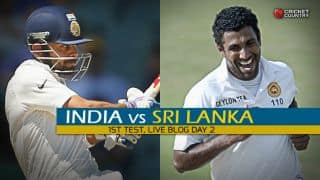 SL 5/2 | Live Cricket Score, India vs Sri Lanka 2015, 1st Test at Galle, Day 2: India finish Day 2 on top