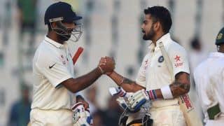 India vs England, 3rd Test at Mohali: Cheteshwar Pujara, Virat Kohli guide India to 148/2 at tea on Day 2