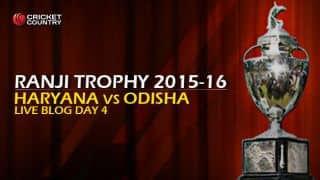 HAR 250/4   Live Cricket Score, Haryana vs Odisha, Ranji Trophy 2015-16, Group A match, Day 4 at Lahli; Match ends in a draw