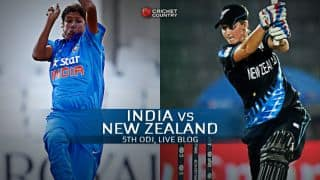 Live Cricket Score, India Women vs New Zealand Women, 5th ODI at Bangalore India women 121/1 in 27.2 Overs: India win by 9 wickets, claim the series 3-2