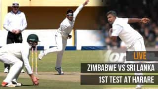 LIVE Cricket Score, Zimbabwe vs Sri Lanka, 1st Test, Day 4, at Harare