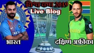 ICC Cricket World Cup 2019 live cricket score and updates IND vs SA, Match 8 live streaming, live score updates live blog and ball by ball commentary: South Africa opt to bat