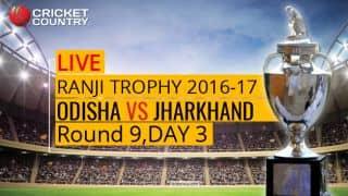Live Cricket Score, Ranji Trophy 2016-17, Odisha vs Jharkhand, Round 9, Day 3