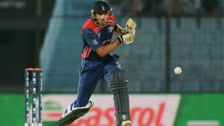 Nepal legend Paras Khadka hammers 4 sixes off Pakistani bowler Saeed Ajmal in 2X Cricket USA Cup 2016 final
