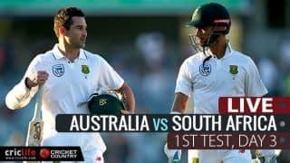 SA 390/6 | Lead: 293 | LIVE Cricket Score, AUS vs SA, 1st Test, Day 3 at Perth: Stumps
