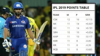 IPL 2019 results: Points table standings – updated after CSK vs MI match