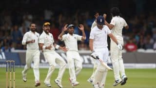England in trouble in run-chase of 319 against India in 2nd Test at Lord's