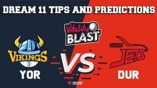 Dream11 Team Yorkshire vs Durham Match T20 BLAST 2019 2019 T20 Blast – Cricket Prediction Tips For Today's T20 Match YOR vs DUR at Chester-le-Street