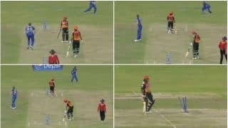 Amit Mishra gets run out in most bizarre fashion