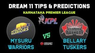 MW vs BT Dream11 Team Mysuru Warriors vs Bellary Tuskers KPL 2019 Karnataka Premier League – Cricket Prediction Tips For Today's T20 Match at Mysore