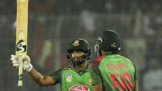 2nd T20I: Liton Das' 60 off 34 powers Bangladesh to 211/4 against West Indies