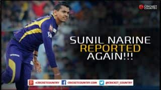 Sunil Narine's bowling action reported yet again; under the scanner during IPL 2015