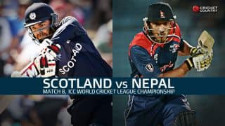 Live Cricket Score, Scotland vs Nepal at Ayr, Match 8, ICC World Cricket League Championship 2015-17: Rain pushes contest to reserve day