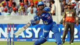 Lendl Simmons, Ambati Rayudu in cruise control for Mumbai Indians against Sunrisers Hyderabad in IPL 2014