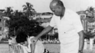 Ramakant Achrekar's only First-Class match