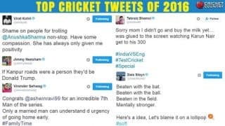 Year-ender: 'Sehwag-ism' and other top cricket tweets of 2016