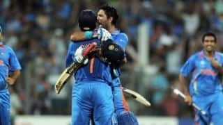 MS Dhoni reveals he promoted himself ahead of Yuvraj Singh in the ICC World Cup 2011 final because Muttiah Muralitharan was bowling