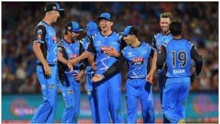 Big Bash League, 2017-18, 4th Match: Adelaide Strikers beat Sydney Thunder by 53 runs