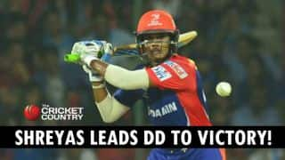 Shreyas Iyer leads Delhi Daredevils to 6-wicket win against Chennai Super Kings in IPL 2015 Match 49 at Raipur