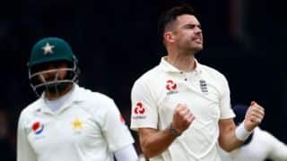 ENGLAND VS PAKISTAN : Pakistan all out for 174 run in first innings, Anderson & Broad strike for england