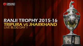 JH 42/1, trail by 124 runs | Live Cricket Score, Tripura vs Jharkhand, Ranji Trophy 2015-16, Group C at Agartala, Day 1: Visitors lose early wickets