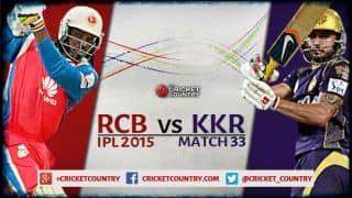 Royal Challengers Bangalore vs Kolkata Knight Riders, IPL 2015 Match 33 Preview