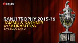 SAU 451/9 | Live cricket score, Jammu & Kashmir vs Saurashtra, Ranji Trophy 2015-16, Group C match, Day 2 at Jammu
