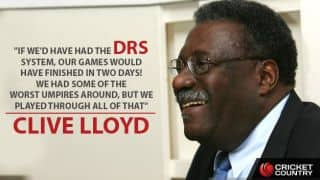Clive Lloyd regrets for not having DRS during West Indies' domination period