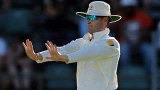 Michael Clarke's club captain declares at 17/0 to allow him time to push for a Test return