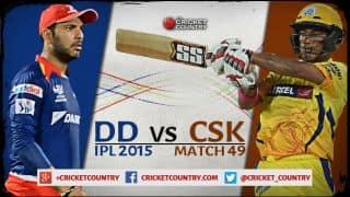 Live Cricket Score Delhi Daredevils vs Chennai Super Kings IPL 2015, Match 49 at Raipur DD 120/4 in 16.4 overs: DD win by 6 wickets