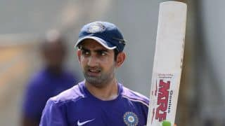 I couldn't smile while while playing due to fear of being dropped, says Gautam Gambhir
