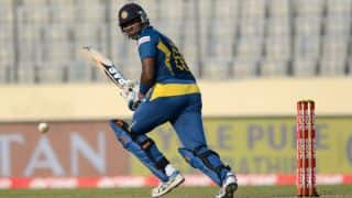 Mathews reached his 22nd ODI half-century
