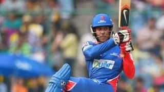 Mayank Agarwal strokes an aggressive half-century against Australia A in Chennai