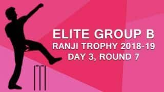 Ranji Trophy 2018-19, Elite Group B, Round 7, Day 3: Hyderabad extend lead to 169 runs