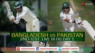 Live Cricket Score, Ban vs Pak 2015, 2nd Test at Dhaka, Day 1, Pak 323/3 at Stumps on Day 1: Pakistan ahead after opening day