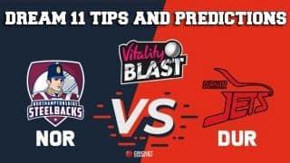 Dream11 Team Northamptonshire vs Durham Match T20 BLAST 2019 – Cricket Prediction Tips For Today's T20 Match NOR vs DUR at Northampton