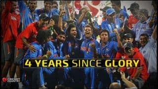 India celebrates 4 years of ICC Cricket World Cup 2011 win